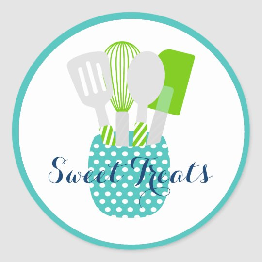 Kitchen Utensil Baked Goods Logo Classic Round Sticker