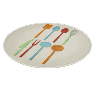 Kitchen Utensil Silhouettes ORBLC Cutting Board