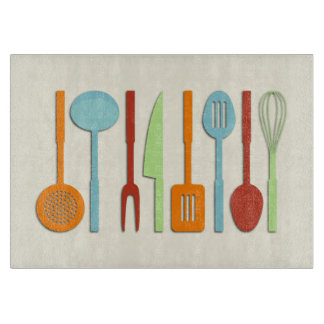 Kitchen Utensil Silhouettes ORBLC II Cutting Board