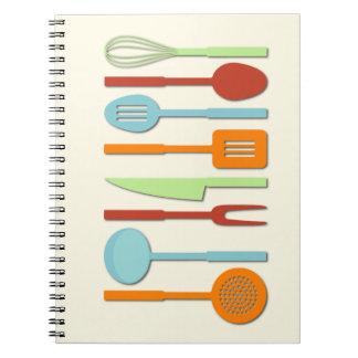 Kitchen Utensil Silhouettes ORBLC II Notebooks