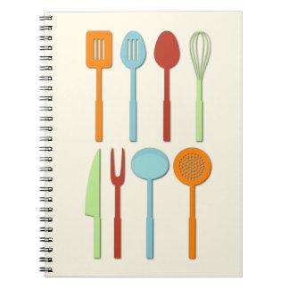 Kitchen Utensil Silhouettes ORBLC Notebooks