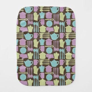 Kitchen Utensils Pattern 2 Burp Cloth