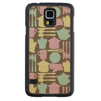 Kitchen Utensils Pattern 2 Carved Maple Galaxy S5 Case