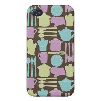 Kitchen Utensils Pattern 2 Case For iPhone 4