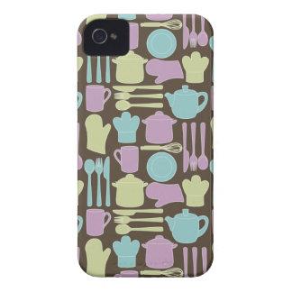 Kitchen Utensils Pattern 2 iPhone 4 Cases