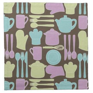 Kitchen Utensils Pattern 2 Napkin