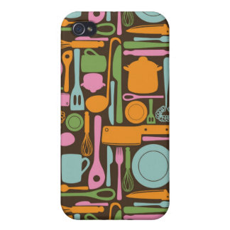 Kitchen Utensils Pattern 3 iPhone 4/4S Covers