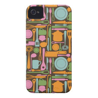 Kitchen Utensils Pattern 3 iPhone 4 Covers
