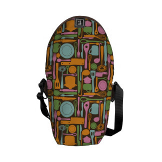 Kitchen Utensils Pattern 3 Messenger Bags