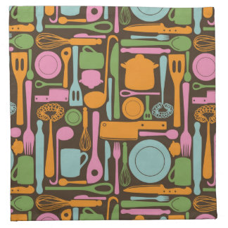 Kitchen Utensils Pattern 3 Napkin