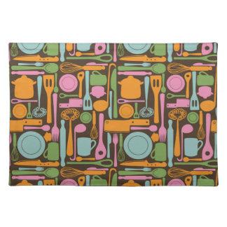 Kitchen Utensils Pattern 3 Placemat