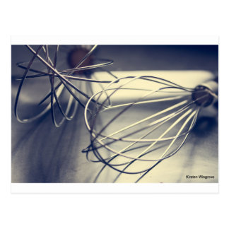 Kitchen whisk postcard