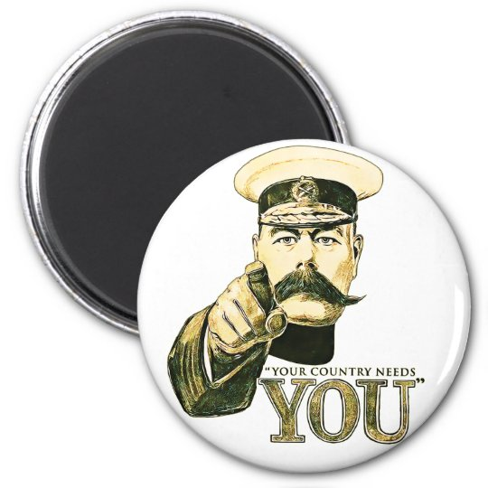 Kitchener Your Country Needs You 6 Cm Round