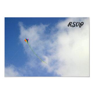 Kite 9 Cm X 13 Cm Invitation Card