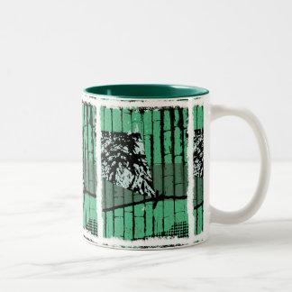Kite and Green Bamboo Mug