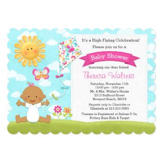 Kite Baby Shower Invitation African American Girl