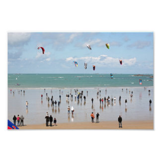 Kite boarding competition photo print