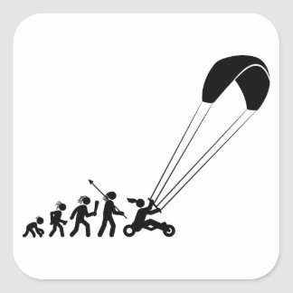 Kite Buggying Square Sticker