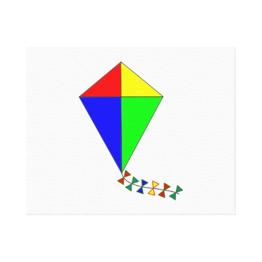 Kite Stretched Canvas Print