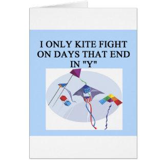 KITE fight fighter joke Card