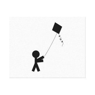 Kite Flying Stretched Canvas Prints