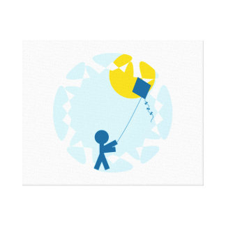 Kite Flying Stretched Canvas Print
