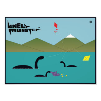Kite Flying Lonely Monsters Photo Print