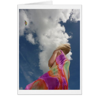 Kite Flying Note Card
