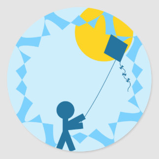 Kite Fun Classic Round Sticker