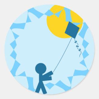 Kite Fun Round Sticker