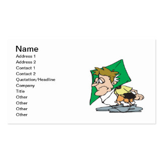 Kite Head Double-Sided Standard Business Cards (Pack Of 100)