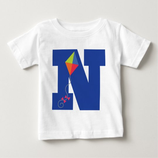 Kite Kid Monogram Letter N Alphabet Baby T-Shirt
