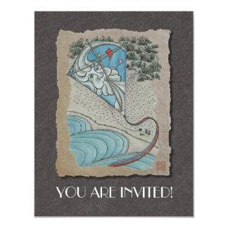 Kite & Mr. North Wind 11 Cm X 14 Cm Invitation Card