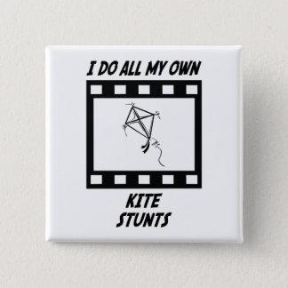 Kite Stunts 15 Cm Square Badge