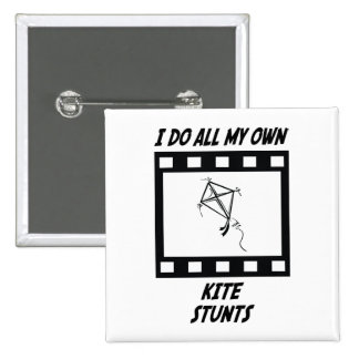 Kite Stunts 15 Cm Square Badge