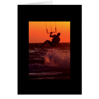 Kite Surfer on St. Pete Beach Postcard Greeting Card