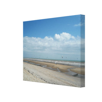 Kite Surfers at Camber, East Sussex, England. Canvas Print