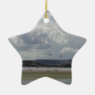 Kite Surfers. Scenic view. Christmas Ornament
