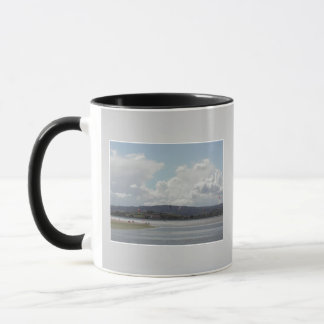 Kite Surfers. Scenic view. On Gray. Mug
