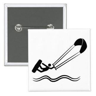 Kite Surfing 15 Cm Square Badge