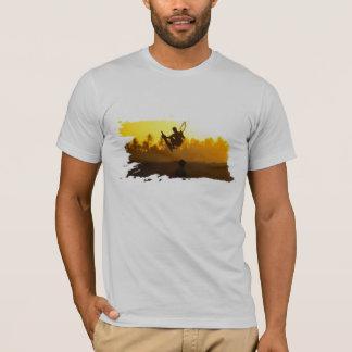 kite surfing at sunset T-Shirt