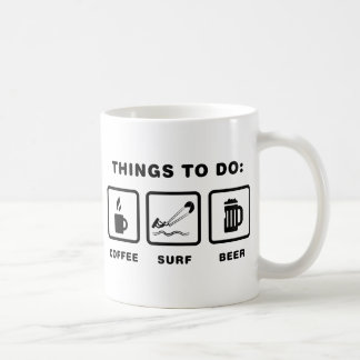 Kite Surfing Basic White Mug
