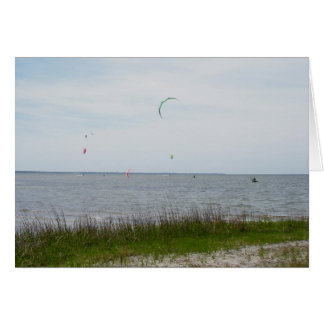 Kite Surfing Canadian Hole OBX NC Note Card