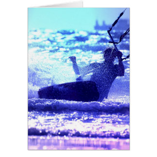 Kite Surfing Greeting Card