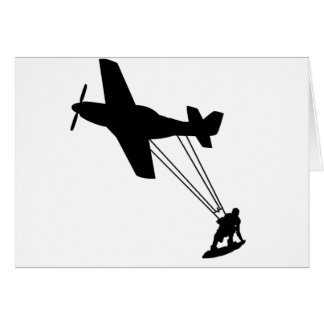 Kiteboard Plane Card