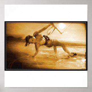 kiteboarding Girl Poster