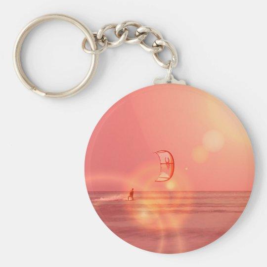 Kiteboarding Sunset Keychain