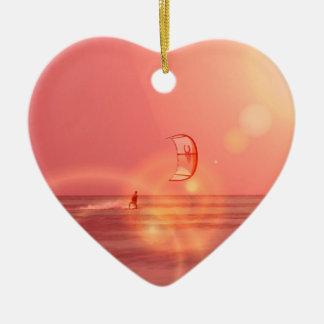 Kiteboarding Sunset Ornament