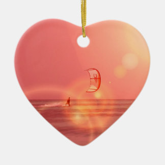 Kiteboarding Sunset Ornament