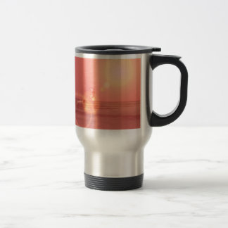 Kiteboarding Sunset Travel Mug